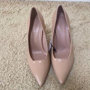 New! Bershka SZ 8, Nude stiletto heel shoes .